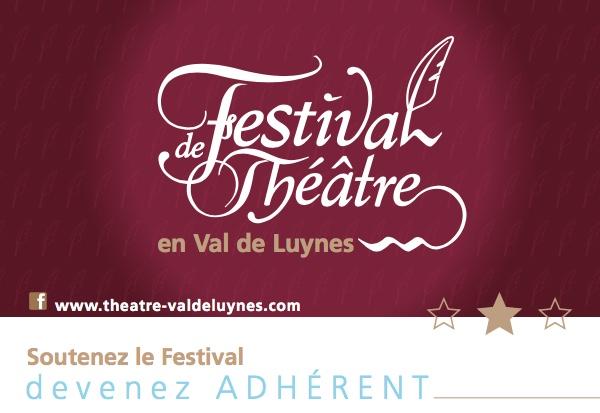 Festival de Théâtre en Val de Luynes logo devenez adhérent